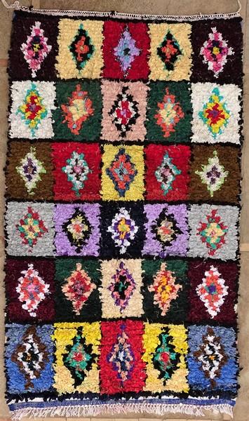 BOUCHEROUITE-KILIMS Boucherouite Large moroccan rugs LN51286