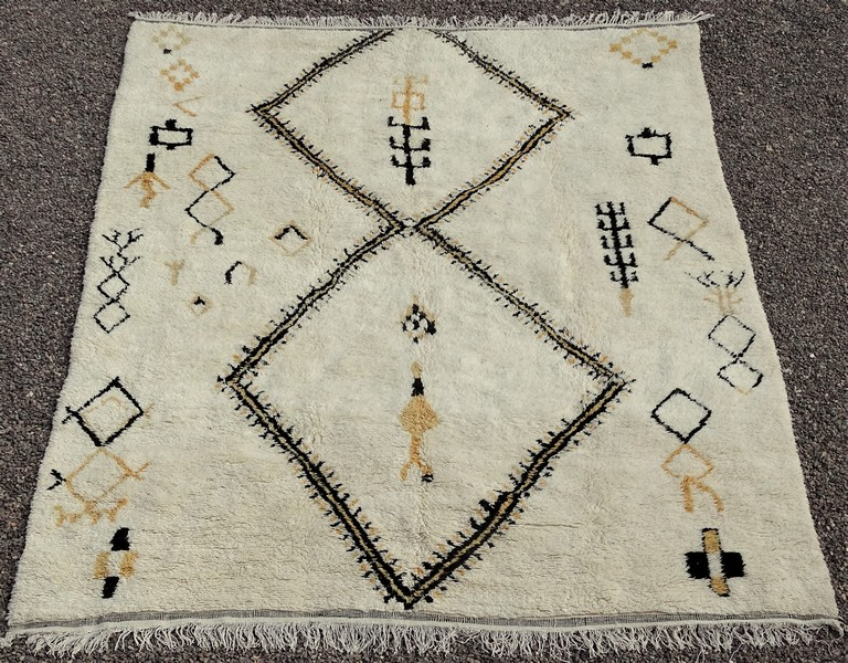 BENI OURAIN-WOOL RUGS Beni Ourain Large sizes moroccan rugs BO52002