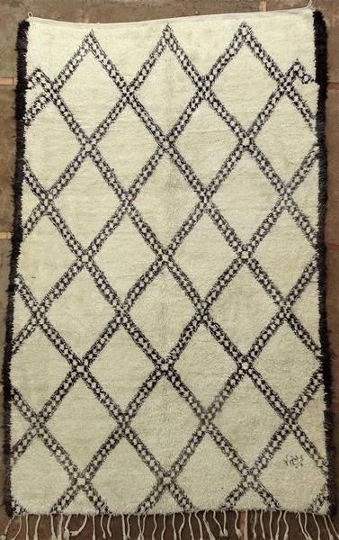 BENI OURAIN-WOLLTEPPICHE Beni Ourain und Mittlerer Atlas Antik Berber Teppich BOA52014