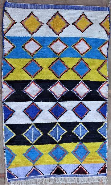 BOUCHEROUITE-KILIMS Boucherouite Medium moroccan rugs TN52068