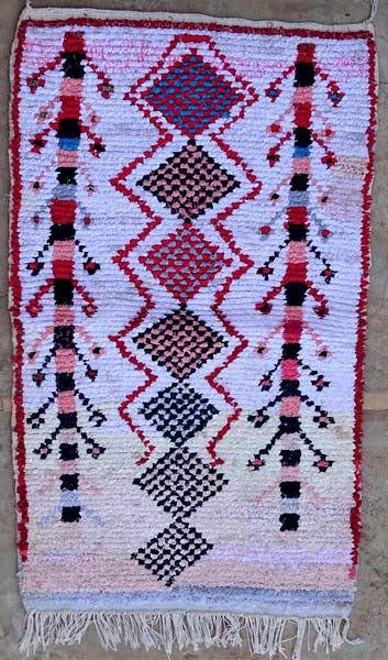 BOUCHEROUITE-KILIMS Boucherouite Small moroccan rugs TTN52070