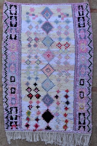 BOUCHEROUITE-KILIMS Boucherouite Medium moroccan rugs TN52076
