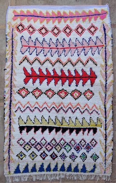 BOUCHEROUITE-KILIMS Boucherouite Medium moroccan rugs TN52081
