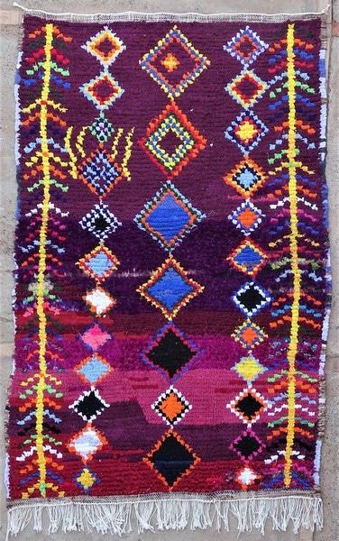 BOUCHEROUITE-KILIMS Boucherouite Small moroccan rugs TTN52091