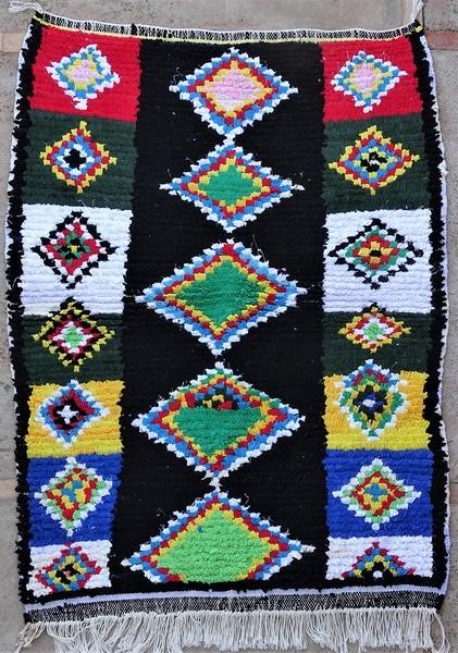 BOUCHEROUITE-KILIMS Boucherouite Small moroccan rugs TTN52092