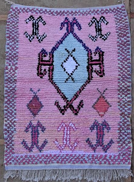 BOUCHEROUITE-KILIMS Boucherouite Small moroccan rugs TTN52095