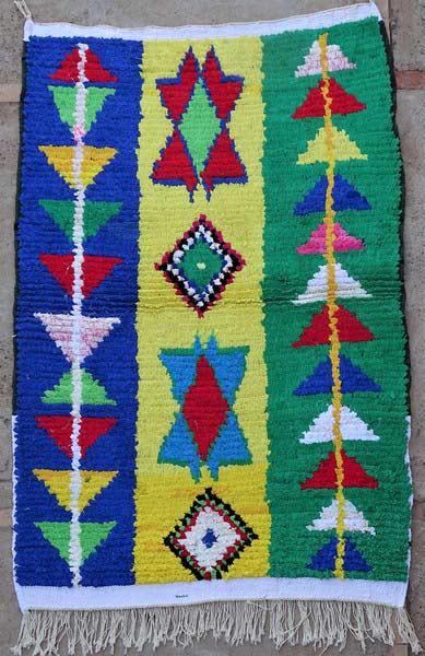 BOUCHEROUITE-KILIMS Boucherouite Small moroccan rugs TTN52093