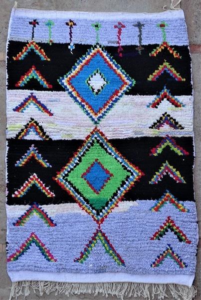 BOUCHEROUITE-KILIMS Boucherouite Small moroccan rugs TTN52098