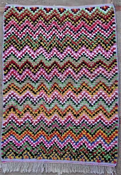 BOUCHEROUITE-KILIMS Boucherouite Small moroccan rugs TTN52097