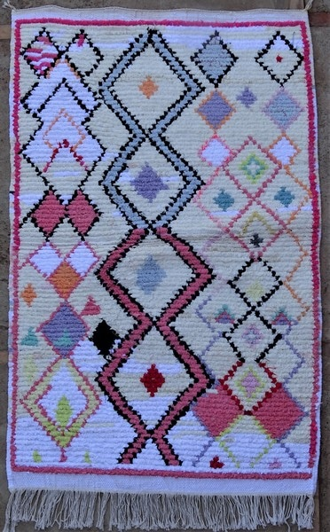 BOUCHEROUITE-KILIMS Boucherouite Small moroccan rugs TTN52096