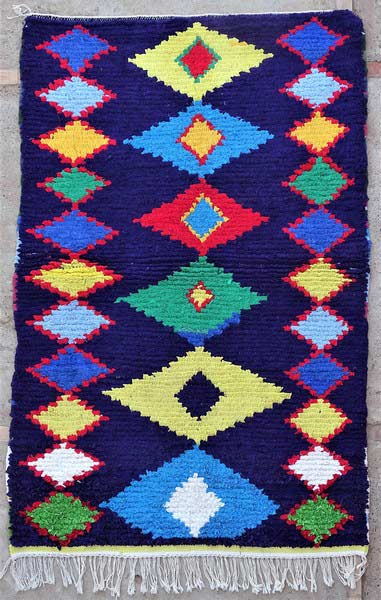 BOUCHEROUITE-KILIMS Boucherouite Medium moroccan rugs T52101