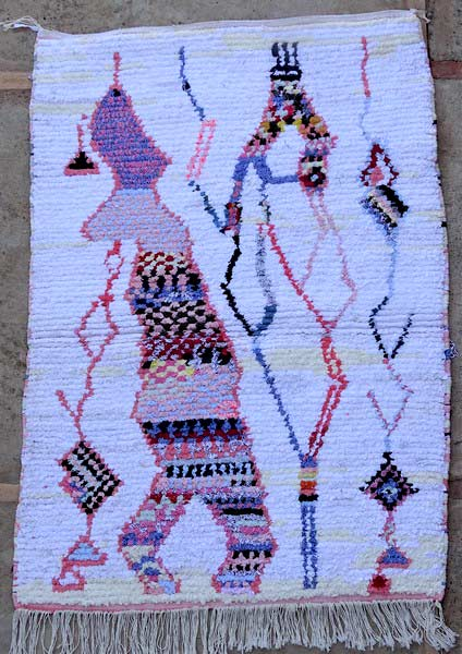 BOUCHEROUITE-KILIMS Boucherouite Small moroccan rugs TTN52099