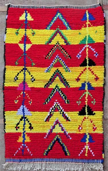 BOUCHEROUITE-KILIMS Boucherouite Small moroccan rugs TTN52100