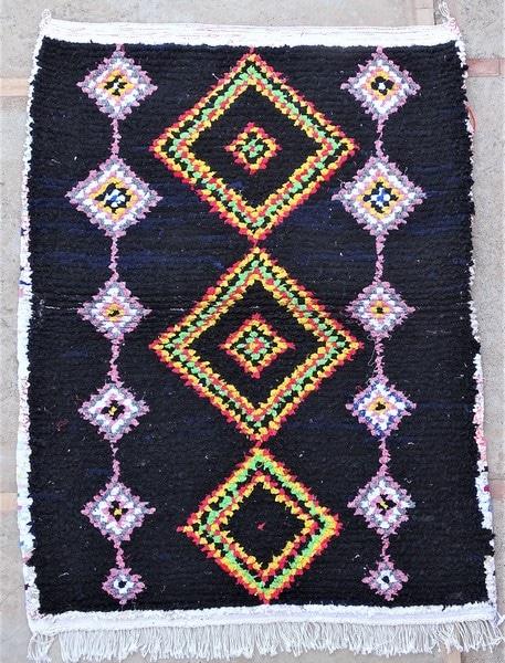 BOUCHEROUITE-KILIMS Boucherouite Small moroccan rugs TTN52106