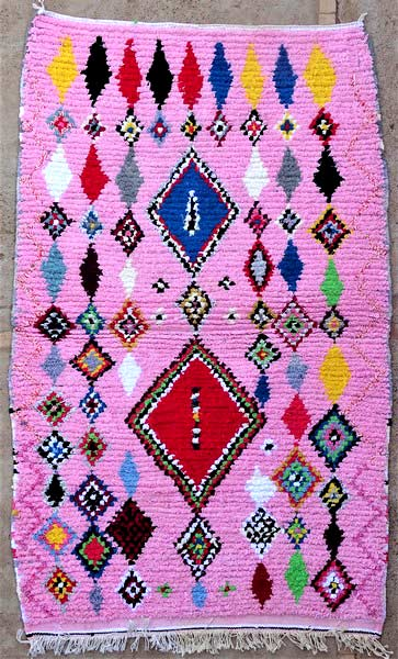 BOUCHEROUITE-KILIMS Boucherouite Medium moroccan rugs TN52109