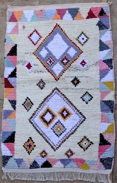 BOUCHEROUITE-KILIMS Boucherouite Small moroccan rugs TTN52111