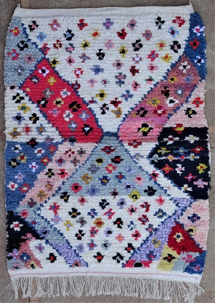 BOUCHEROUITE-KILIMS Boucherouite Small moroccan rugs TTN52114