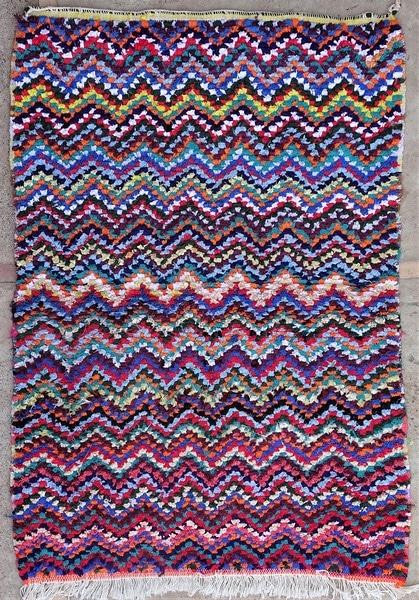 BOUCHEROUITE-KILIMS Boucherouite Small moroccan rugs TTN52113