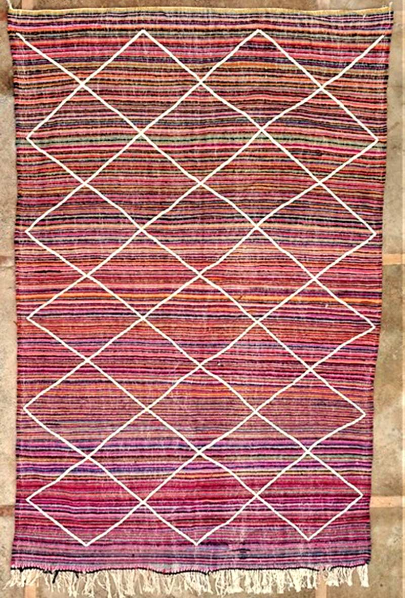 Tapis Kilim Zanafi berbère  #ZA52154 acrylic wool