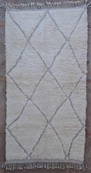 Berber living room rug #BO53010 pattern in lavand grey wool type Beni Ourain