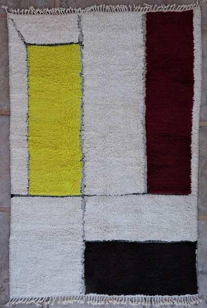 BENI OURAIN-WOLLTEPPICHE Beni Ourain Berber Teppich BO53015 mondrian