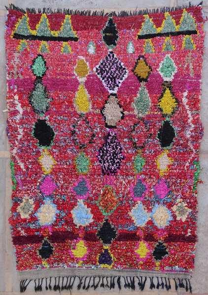 Tapis berbère #T53030 de type tapis Boucharouette Moyens