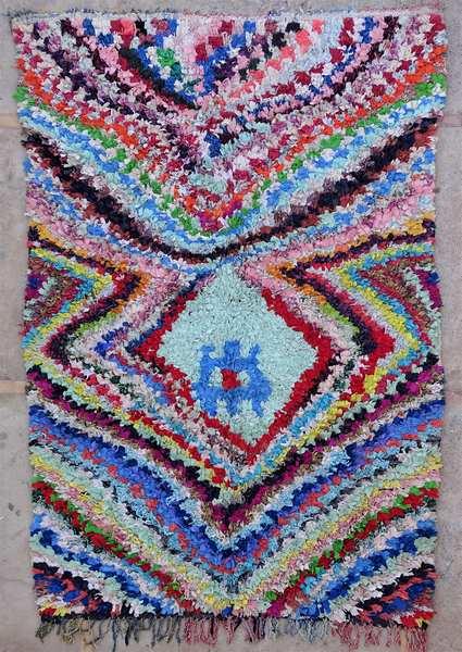 Tapis de salon berbère #L53037 de type tapis Boucharouette Grands