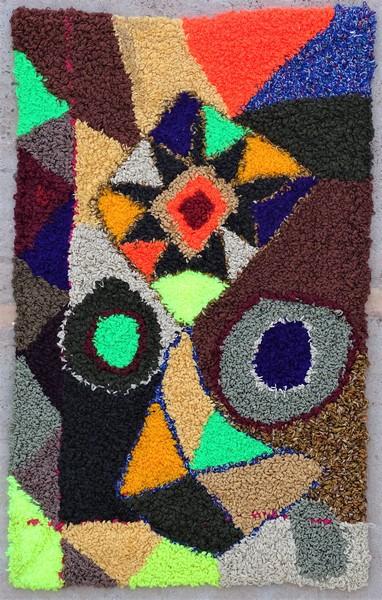 Berber rug #ZK53079  Zindek type Boucherouite Small