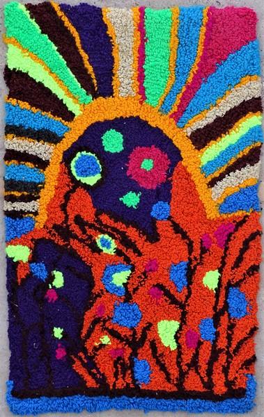 Berber rug #ZK53082 Zindek type Boucherouite Small