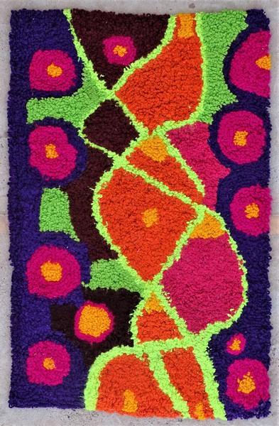 Berber rug #ZK53083 Zindek type Boucherouite Small
