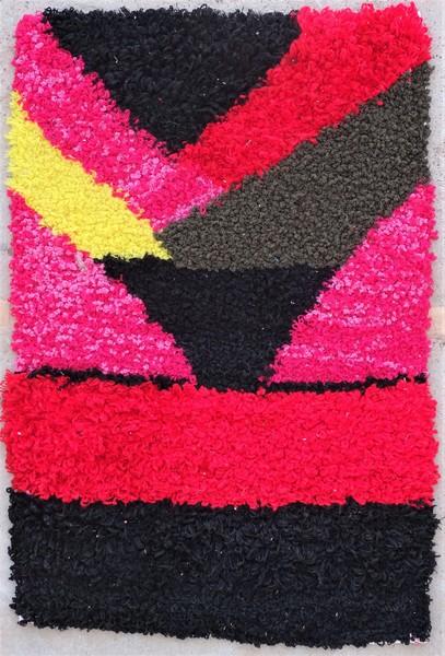Berber rug #ZK53086 Zindek type Boucherouite Small
