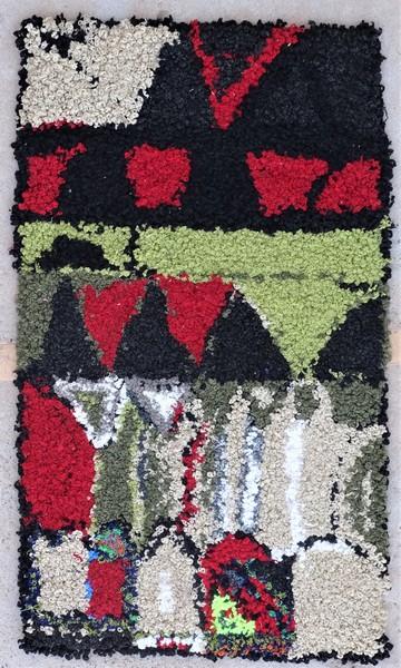 Berber rug #ZK53087 Zindek type Boucherouite Small