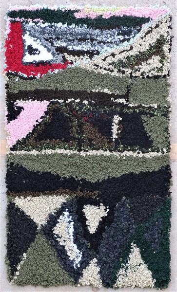 Berber rug #ZK53090 Zindek type Boucherouite Small