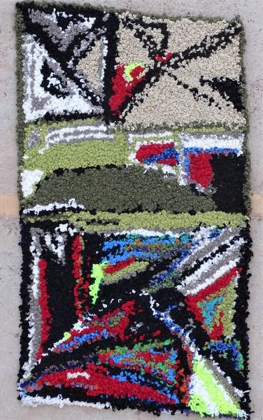 Berber rug #ZK53091 Zindek type Boucherouite Small