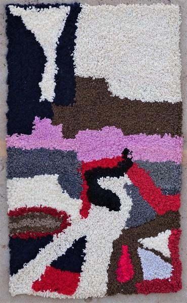 Berber rug #ZK53092 Zindek type Boucherouite Small