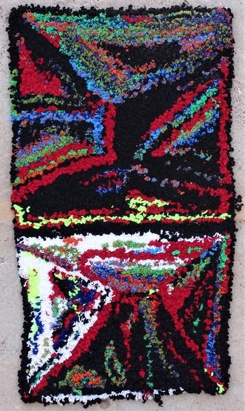 Berber rug #ZK53093 Zindek type Boucherouite Small