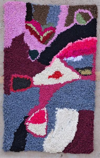 Berber rug #ZK53096 Zindek type Boucherouite Small