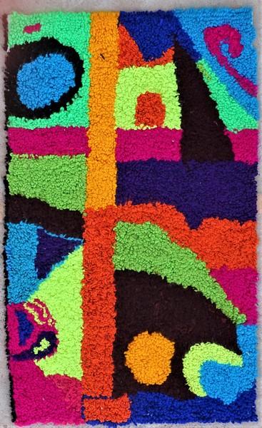 Berber rug #ZK53099  type Boucherouite Small