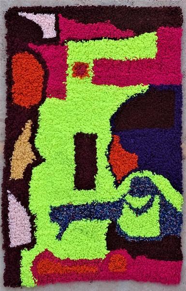 Berber rug #ZK53101 Zindekh type Boucherouite Small