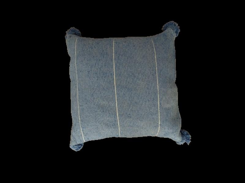 Kissen-Decken-Bettdecken-Poufs Baumwoll-kissen mit pompons Teppich Cushion with pompons  REF DC 2