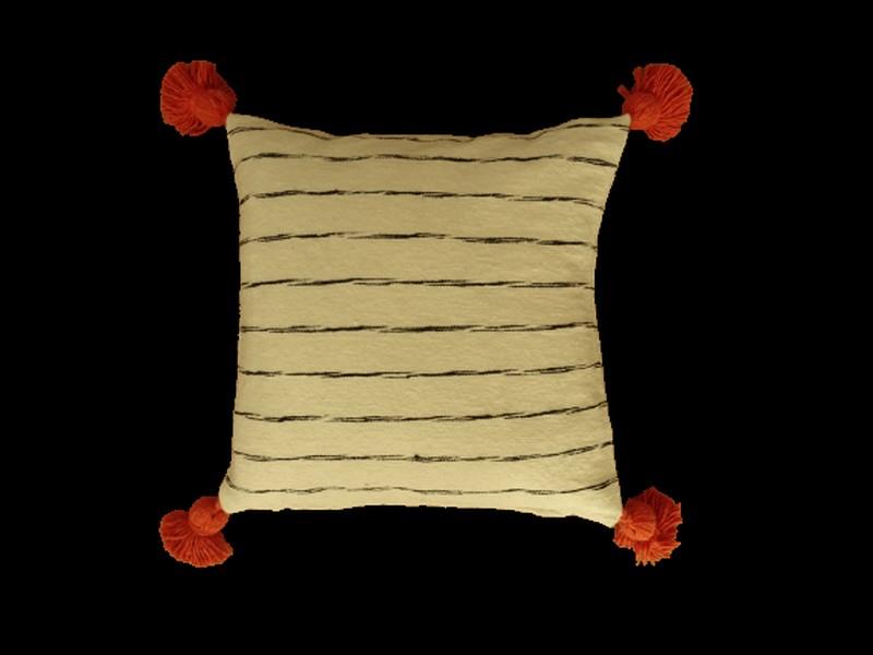 Kissen-Decken-Bettdecken-Poufs Baumwoll-kissen mit pompons Teppich Cushion with pompons  REF NC 2