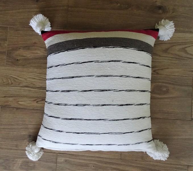 Kissen-Decken-Bettdecken-Poufs Baumwoll-kissen mit pompons Teppich Cushion with pompons  REF UC 2