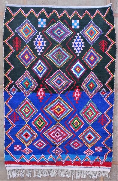 Berber living room rug #LN53134 type Boucherouite Large