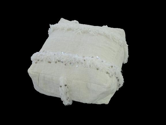 Kissen-Decken-Bettdecken-Poufs Poufs aus kelim oder sabra Teppich PKD pouf cover  with wedding blanket