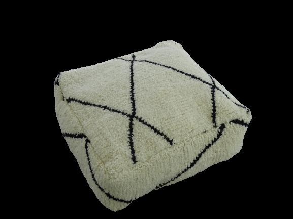 Kissen-Decken-Bettdecken-Poufs Poufs und Kissen aus Beni Ourain Teppich PBOA   beni ourain pouf cover