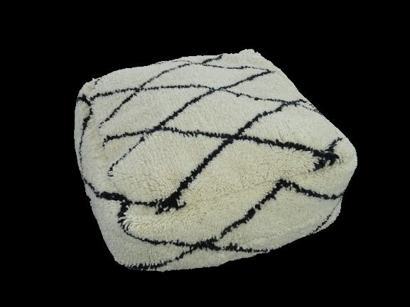 Kissen-Decken-Bettdecken-Poufs Poufs und Kissen aus Beni Ourain Teppich PBOB  beni ourain pouf cover