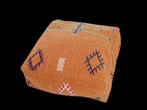 Kissen-Decken-Bettdecken-Poufs Poufs aus kelim oder sabra Teppich PKC pouf cover  with embroidered kilim