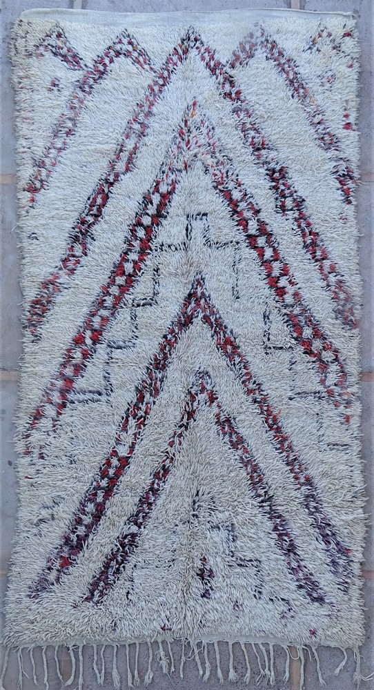 Tapis de salon berbère #BOA54007 de type tapis Beni Ouarain et Moyen Atlas Anciens