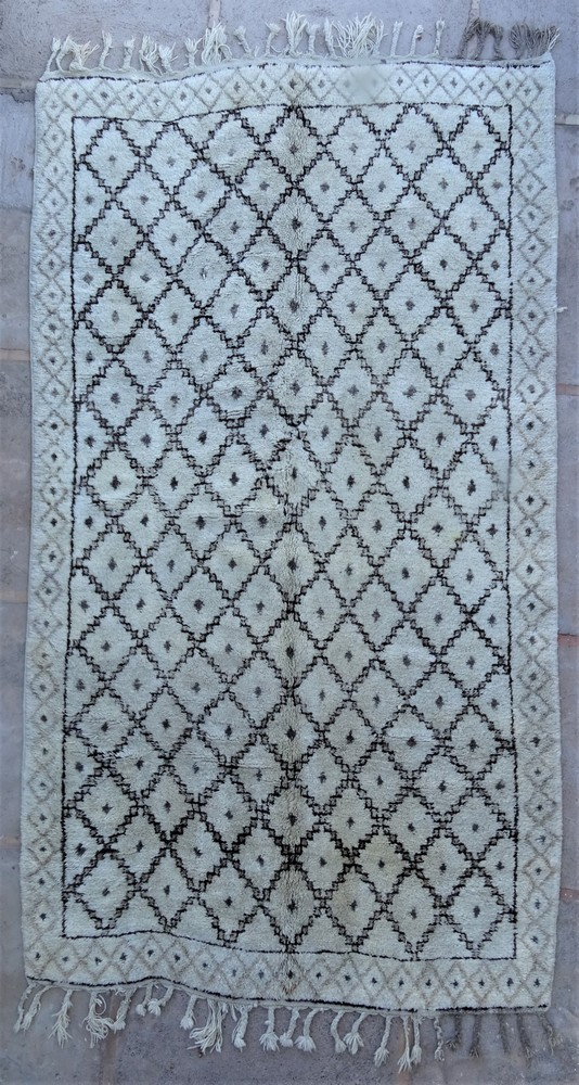 Tapis de salon berbère #BOA54017 de type tapis Beni Ouarain et Moyen Atlas Anciens