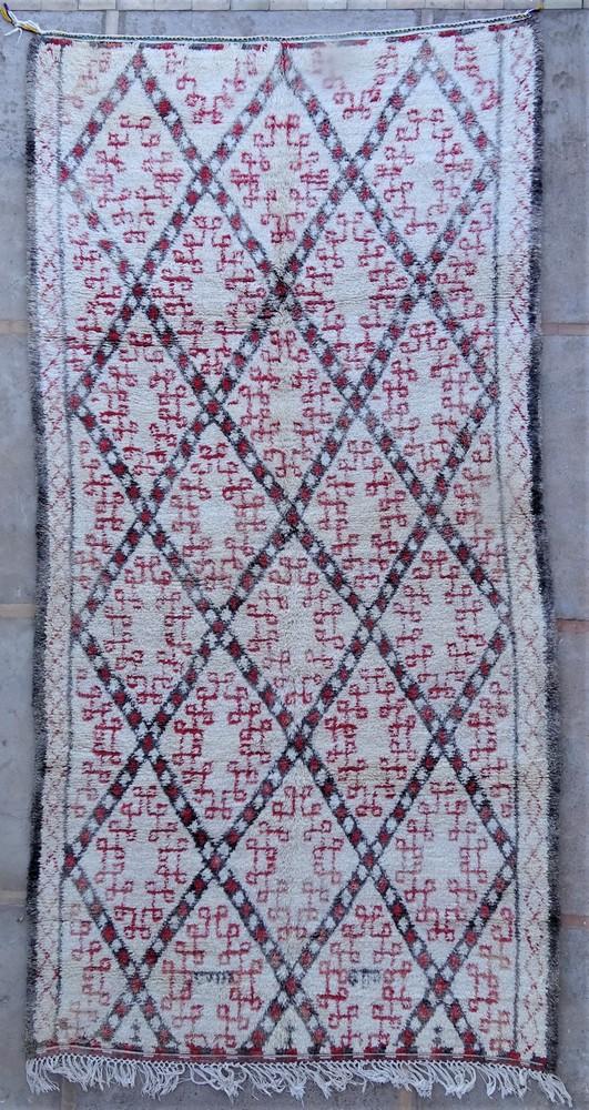 Tapis de salon berbère #BOA54018 de type tapis Beni Ouarain et Moyen Atlas Anciens